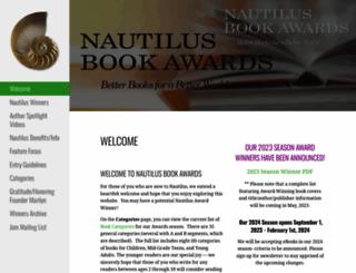 nautilusbookawards.com screenshot