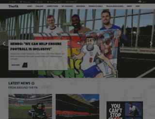 nav.thefa.com screenshot