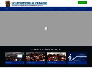navabharathicollegeofeducation.org screenshot