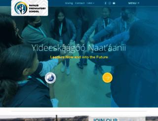 navajoprep.com screenshot