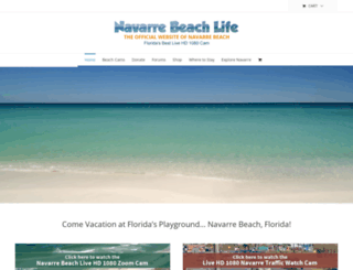 navarrebeachlife.com screenshot