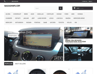 navdvdmaps.com screenshot