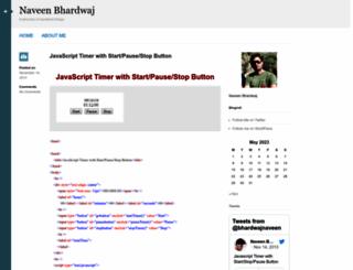 naveenbhardwaj.wordpress.com screenshot