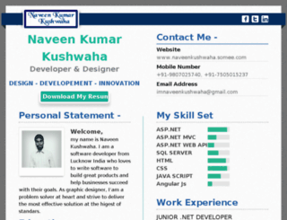 naveenkushwaha.somee.com screenshot