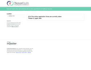 navicenthealth.inquicker.com screenshot
