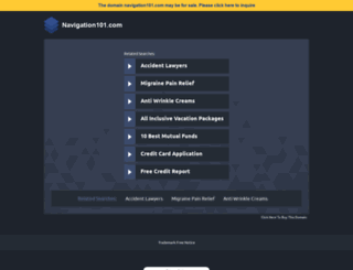 navigation101.com screenshot