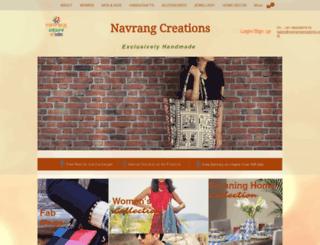 navrangcreations.com screenshot