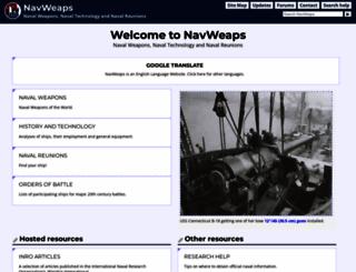 navweaps.com screenshot
