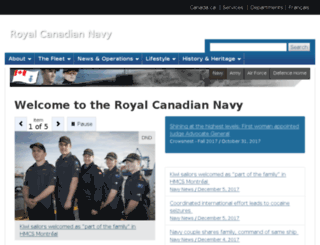 navy.gc.ca screenshot