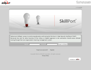 navycswf.skillport.com screenshot