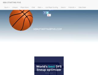 nbastartingfive.com screenshot