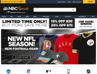 nbcsports.teamfanshop.com screenshot