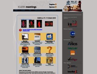nbo.icann.org screenshot