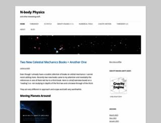 nbodyphysics.com screenshot