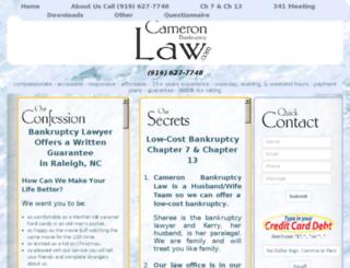 nc-bankruptcy.com screenshot