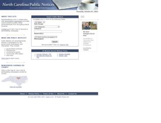 nc.mypublicnotices.com screenshot