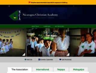 nca.edu.ni screenshot