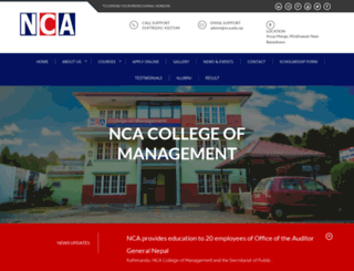 nca.edu.np screenshot