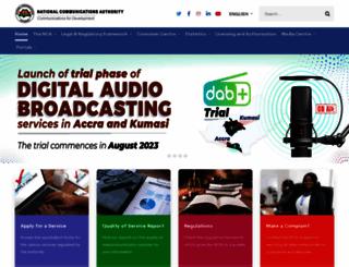 nca.org.gh screenshot