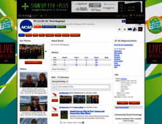 ncaa-d1-xc-west-regional.runnerspace.com screenshot