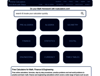ncalculators.com screenshot