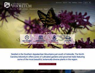 ncarboretum.org screenshot