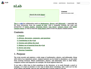 ncatlab.org screenshot