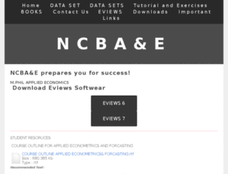 ncbae.yolasite.com screenshot