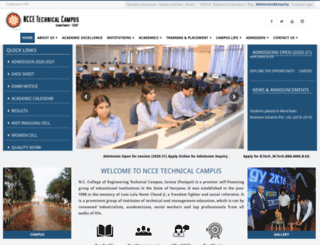 ncce.edu screenshot