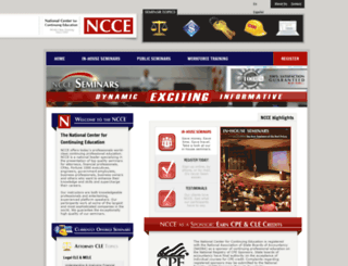 nccetraining.com screenshot