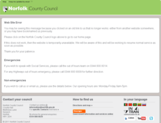 nccoffline.norfolk.gov.uk screenshot