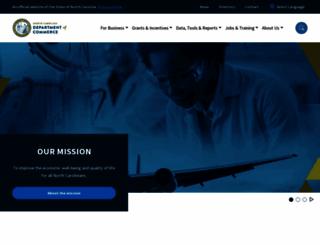 nccommerce.com screenshot
