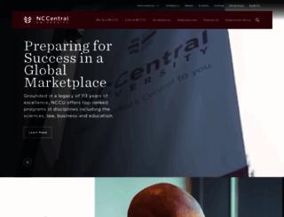 nccu.edu screenshot