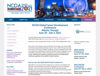 ncdaconference.org screenshot