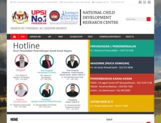 ncdrc.upsi.edu.my screenshot