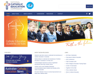 ncec.catholic.edu.au screenshot