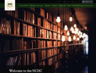 nchchonors.org screenshot