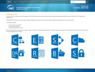 nci.co.uk screenshot