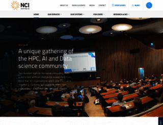 nci.org.au screenshot