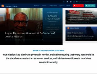 ncjustice.org screenshot