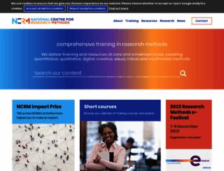 ncrm.ac.uk screenshot