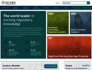 ncsbn.org screenshot
