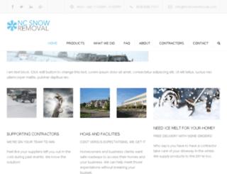 ncsnowremoval.com screenshot