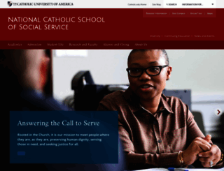 ncsss.cua.edu screenshot