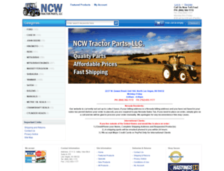 ncwtractorparts.com screenshot