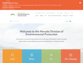 ndep.nv.gov screenshot