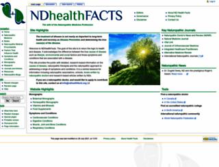 ndhealthfacts.org screenshot