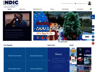 ndic.org.ng screenshot