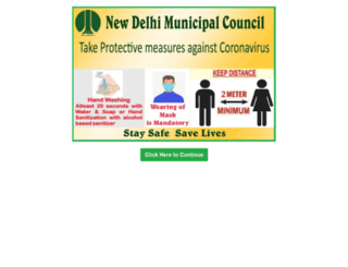 ndmc.gov.in screenshot