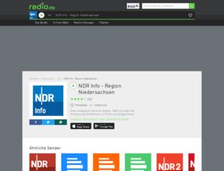 ndrinfo.radio.de screenshot